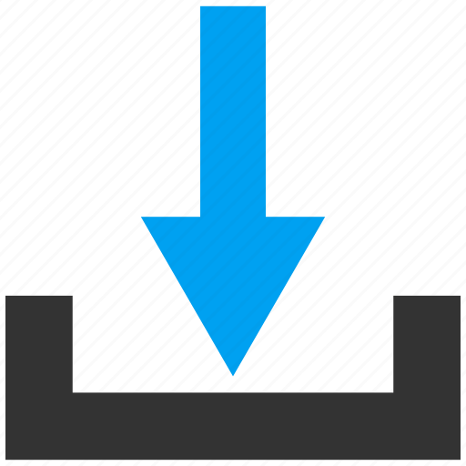 disk, down arrow, download, drop, guardar, load, save, store icon
