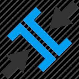 compress, compression, diagonal pressure, minimize, press arrows, reduce, shrink icon