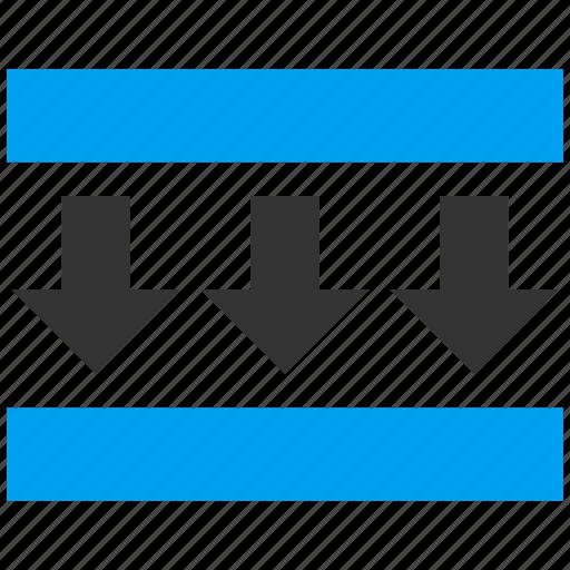 compress vertical, compression, force, press down, pressure, reduce, shrink icon
