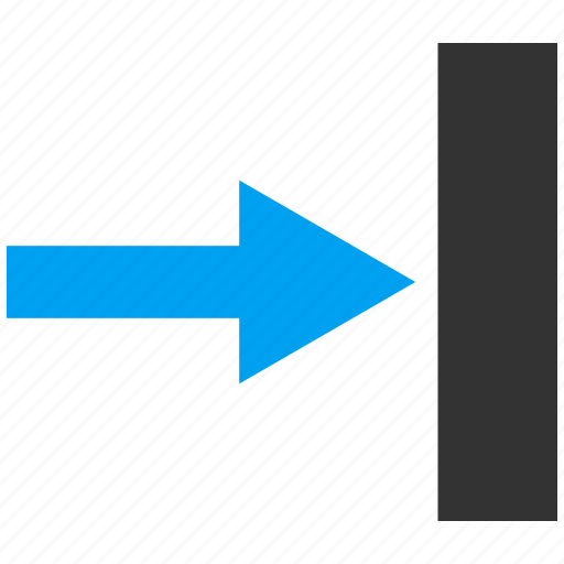 arrow, direction, following, forward, move right, next, push icon