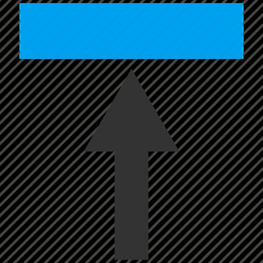 arrow, direction, forward, move, push up, send, transfer icon