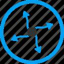 curve arrows, direction, participle, photon, physics, plasm, quark
