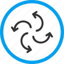 arrows, cyclone, direction, revolve, rotate, spin, twirl icon