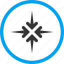 collapse, compress, impact arrows, meeting point, minimize, pointer, pressure