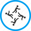 activity, catching up, friends, moving men, persons, running, user group icon