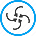hurricane, revolve, rotate, spin, swirl direction, twirl, vortex arrows icon