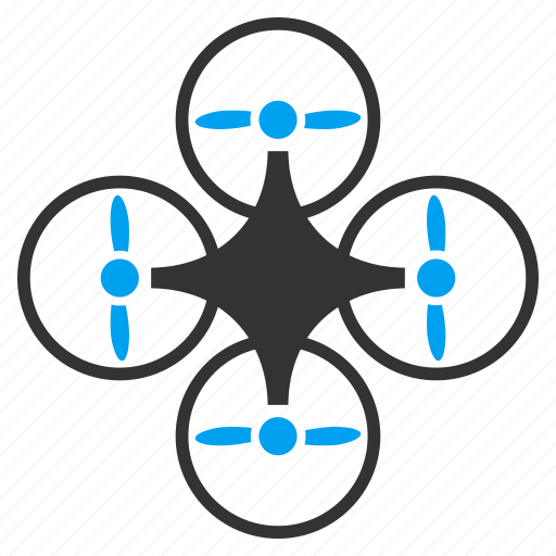 air copter, aircraft, flying drone, hover, quadcopter, quadrotor, radio control icon