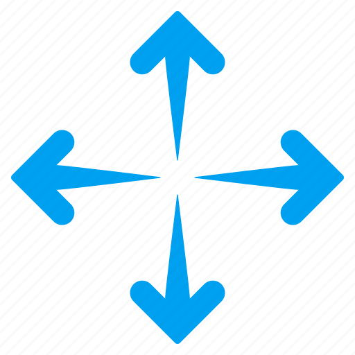 direction, directions, enlarge arrows, expand, full screen, maximize, navigation icon
