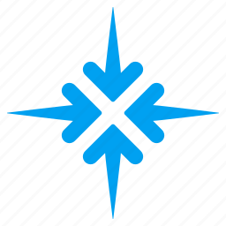 collapse, compress, impact arrows, meeting point, minimize, pointer, pressure icon
