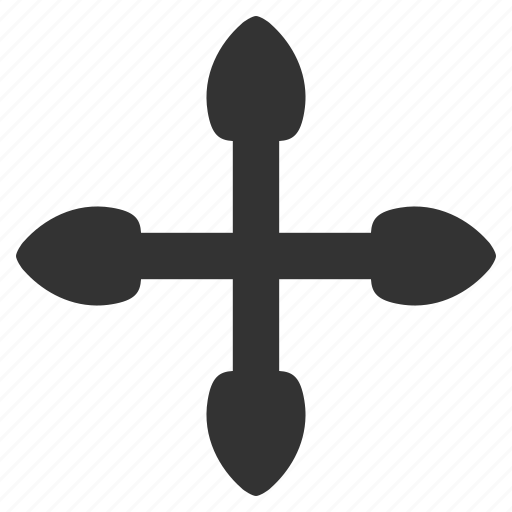 arrows, directions, explode, intersection, navigation, pointer, variants icon