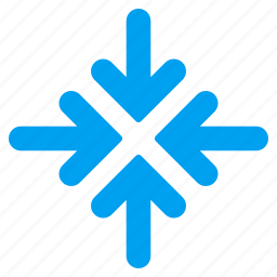 collapse, collide arrows, meeting point, press, quadro, resize, shrink icon