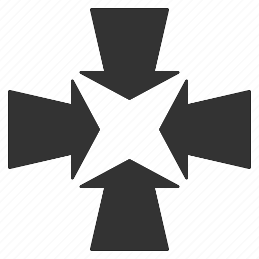 collapse, compress, meeting center, minimize, point, resize, shrink arrows icon