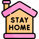 home, no, out, silence, stay icon