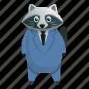 business, child, computer, fashion, raccoon