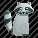 cat, child, girl, hand, raccoon, staying