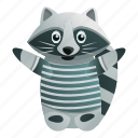 baby, car, fashion, hand, marine, raccoon