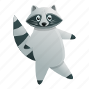 baby, child, person, dancing, raccoon, party
