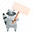 nature, face, baby, animal, protest, raccoon