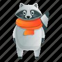 fashion, hand, party, raccoon, scarf, tree