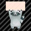 banner, face, hand, nature, raccoon, texture