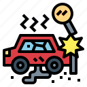 accident, crash, danger, warning icon