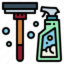 clean, cleaner, sweep, tools icon