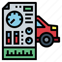 diagnostic, garage, repair, transportation icon