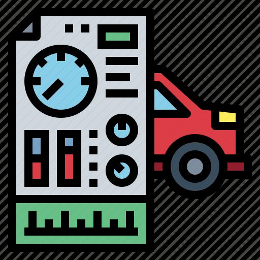 diagnostic, garage, repair, transportation icon