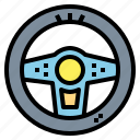 car, steering, transportation, wheel icon
