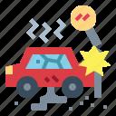 accident, crash, danger, warning icon