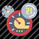 car, dashboard, speedometer, velocity icon