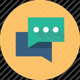 bubbles, chat, comments, communications, conversations, talk icon