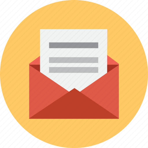 email, envelope, letter, mail, message, opened icon