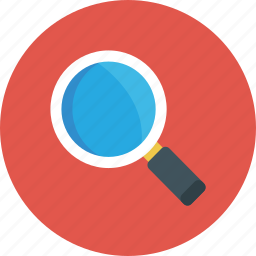 loop, magnifying, search, zoom icon