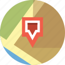 locate, map, pin, site icon