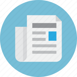 content, letter, news, newsletter, paper icon