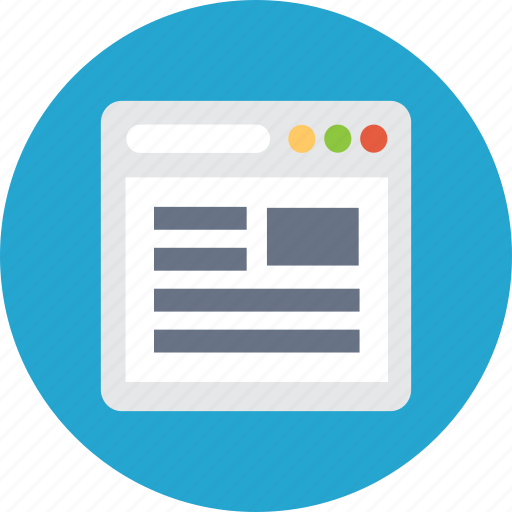 browser, navigator, portal, website icon