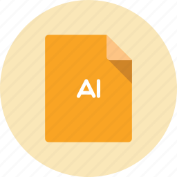 document, extension, file, format, illustrator icon