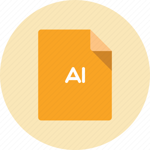 document, extension, file, format, illustrator icon