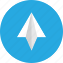 aircraft, arrow, email, game, send, top, up icon