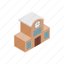 isometric, map, railway, station, train, travel, view icon