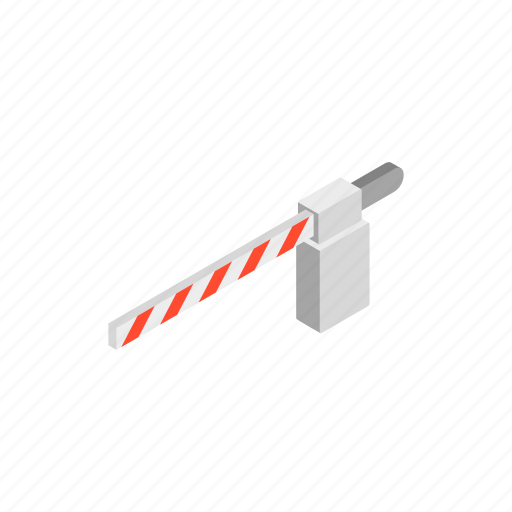 barrier, check, equipment, gate, gated, isometric, railway icon