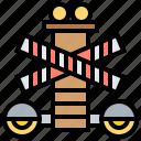 crossroad, light, signal, traffic, warning