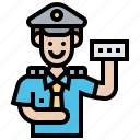 collector, officer, service, ticket, worker icon
