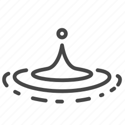 drop, rain, water, wet icon