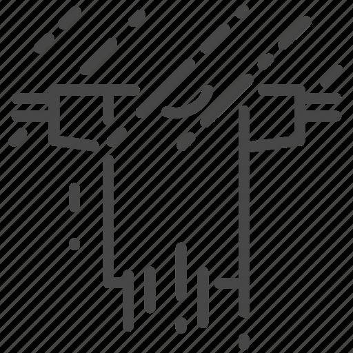 cloth, humidity, rain, raining, soak, wet icon