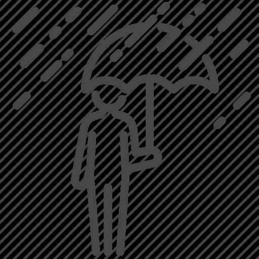 protection, rain, raining, rainy, umbrella, wet icon