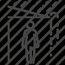rain, raining, roof, wait, wet icon