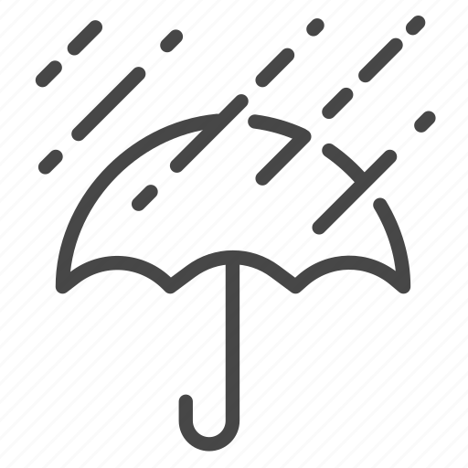 protect, rain, raining, rainy, umbrella, weather, wet icon