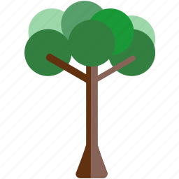forest, rain, tree icon